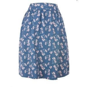 Mata Traders For Modcloth Floral Button Skirt Sz M